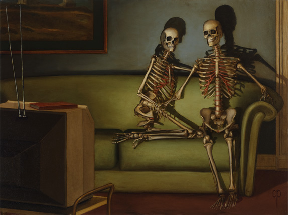 Chris Peters | The Two Comedians | Skeleton Print